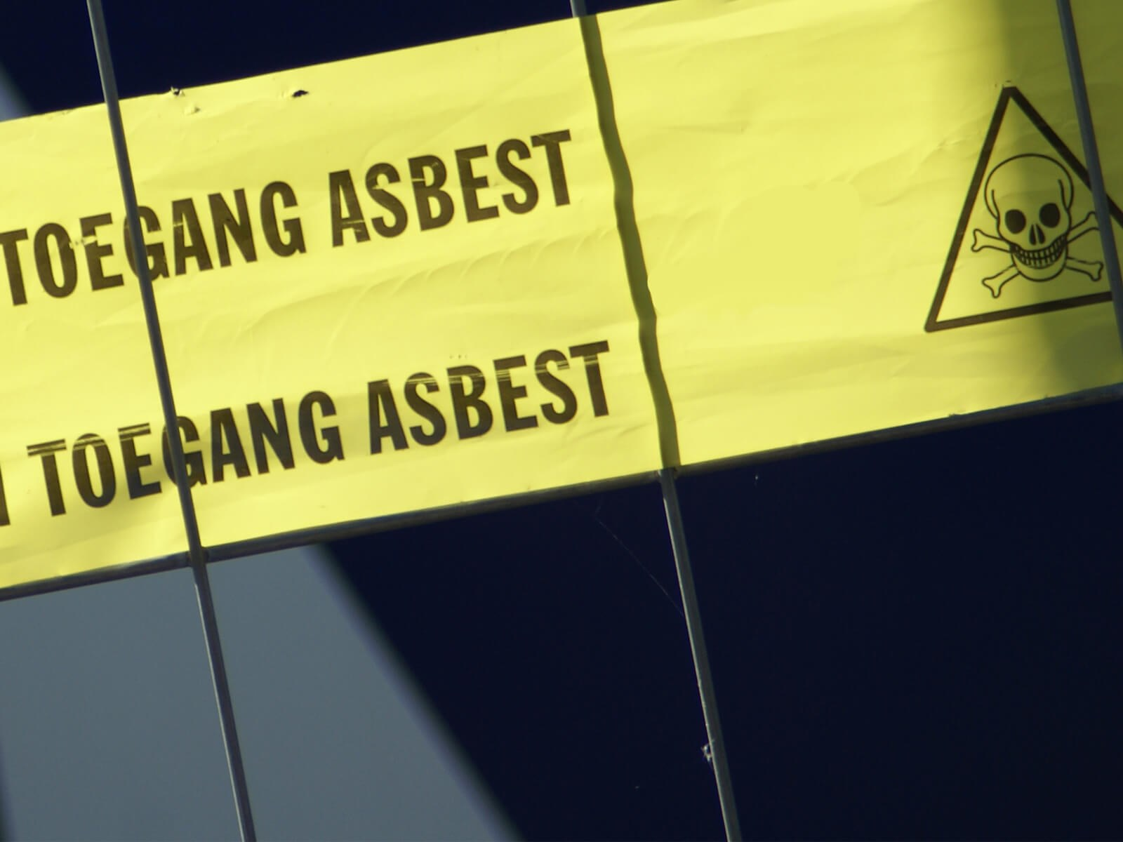 Warning sign asbestos